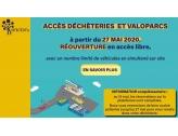 Réouverture des déchèteries en accès libre le 27 mai 2020